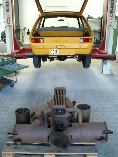 Gemeinsame Opel Kadett mit Holzvergaser @DU_42